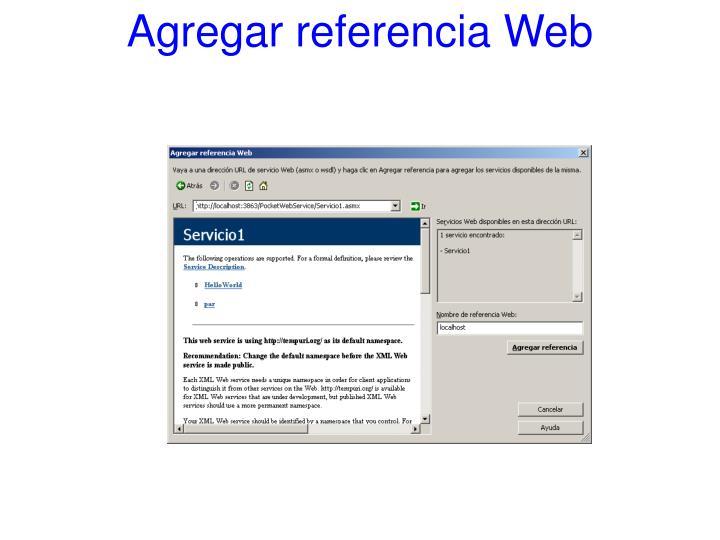 Agregar referencia Web
