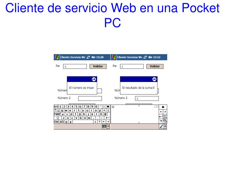 Cliente de servicio Web en una Pocket PC