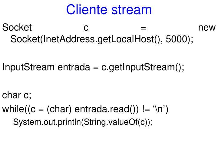 Cliente stream