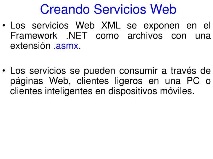 Creando Servicios Web