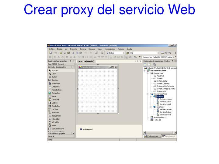 Crear proxy del servicio Web