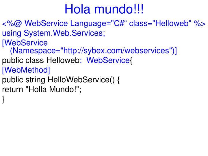 Hola mundo!!!