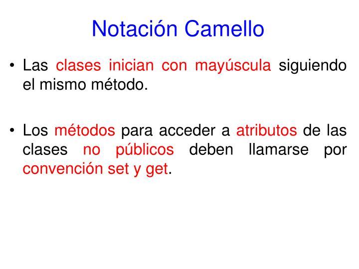 Notación Camello