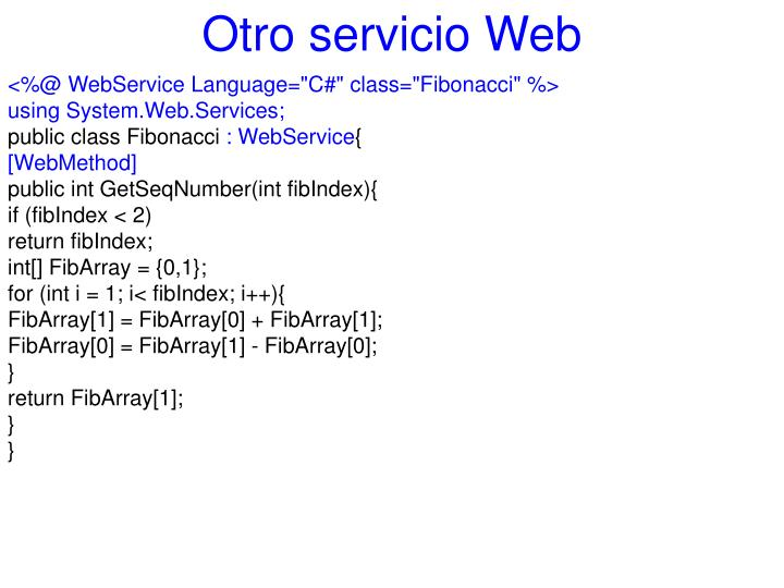 Otro servicio Web