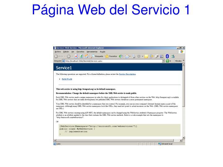 Página Web del Servicio 1