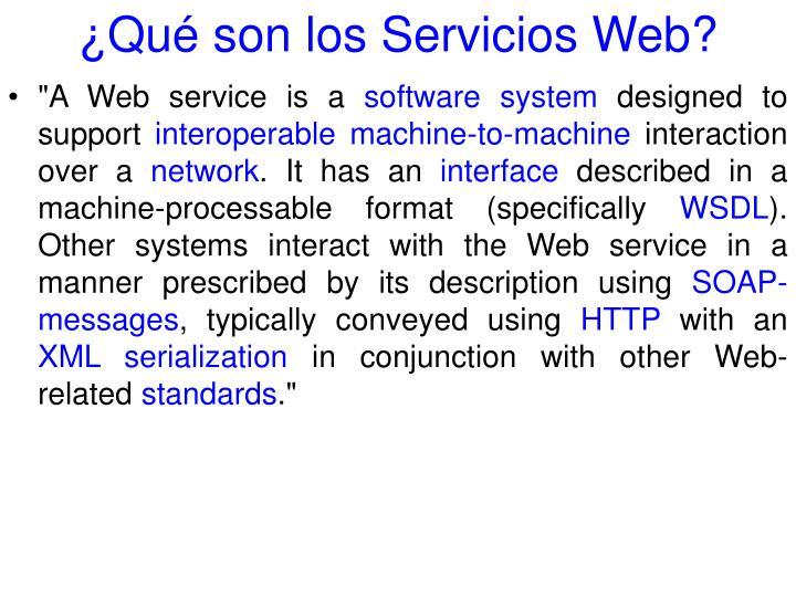 ¿Qué son los Servicios Web?