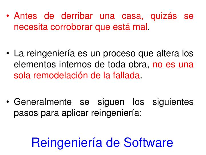 Reingeniería de Software