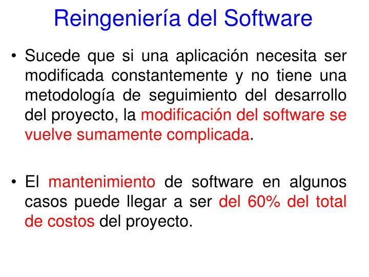 Reingeniería del Software