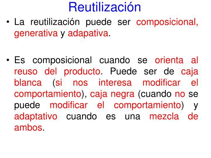 Reutilización