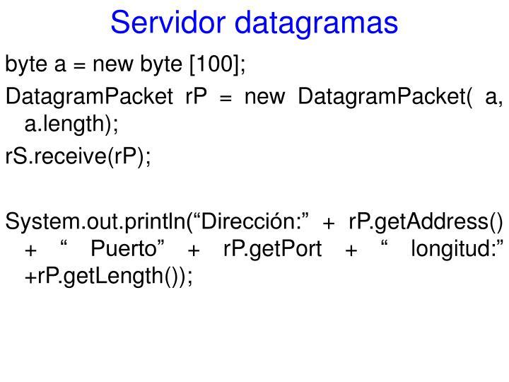 Servidor datagramas