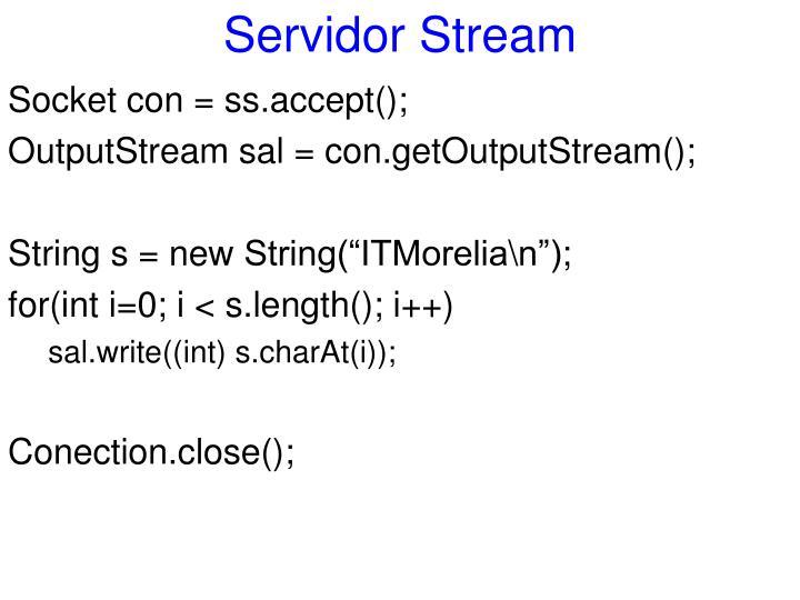 Servidor Stream