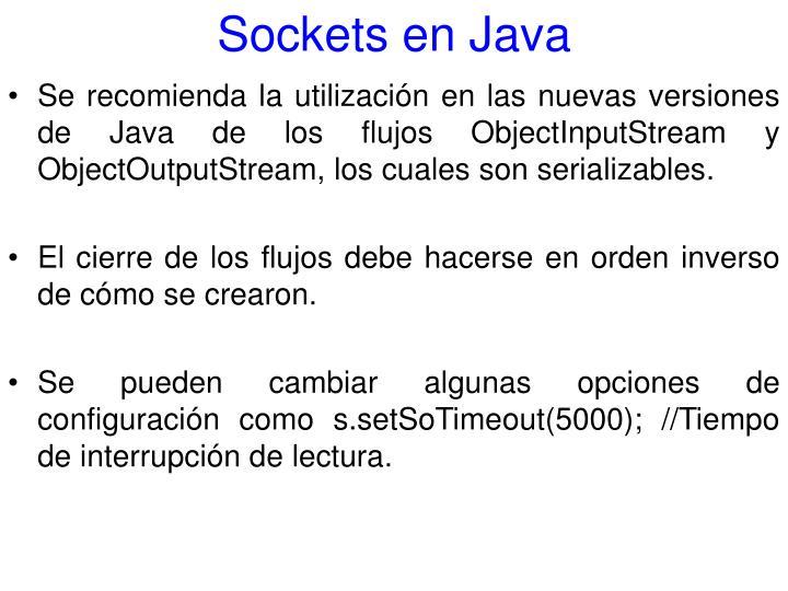 Sockets en Java