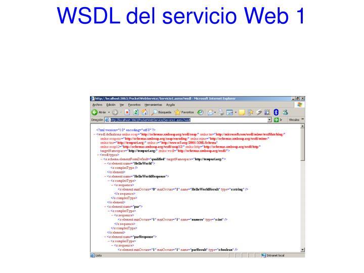 WSDL del servicio Web 1