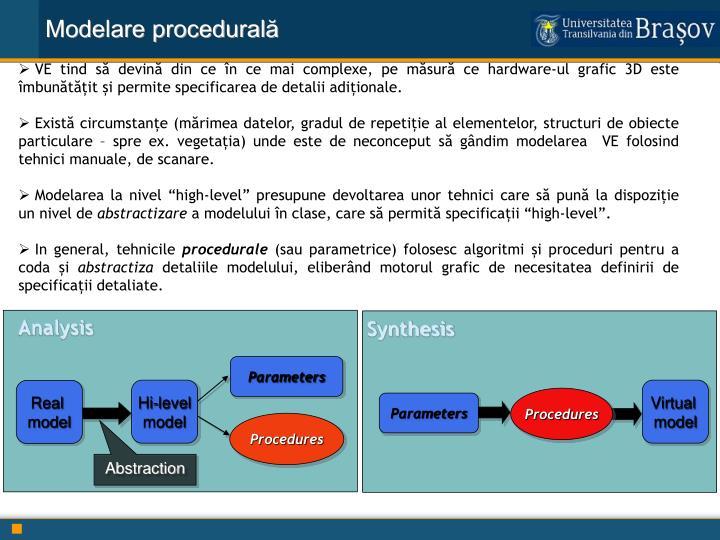 Modelare procedurală
