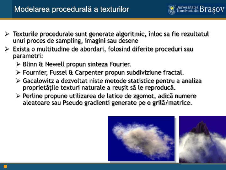 Modelarea procedurală a texturilor