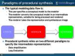 paradigms of procedural synthesis
