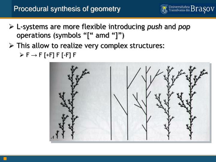 Procedural synthesis of geometry