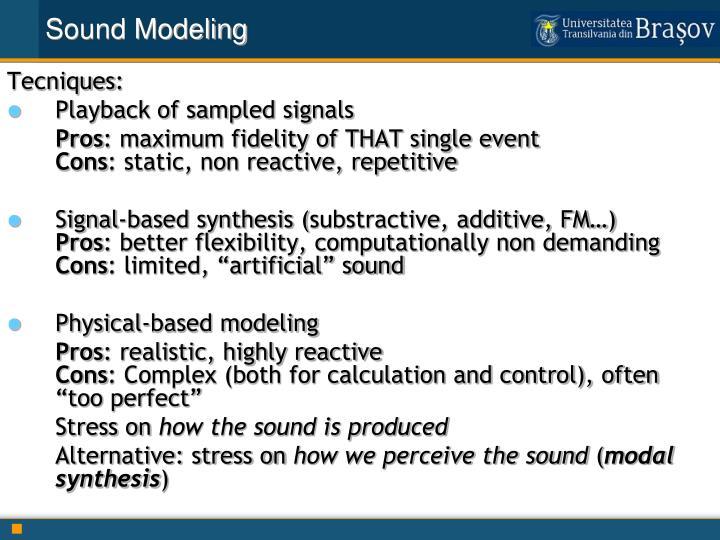 Sound Modeling