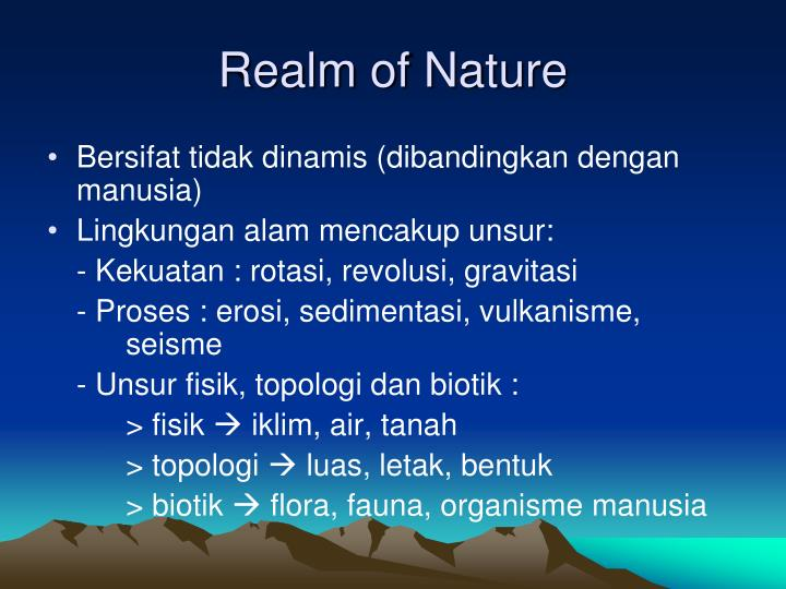 Realm of Nature