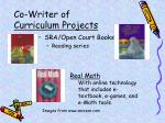co writer of curriculum projects