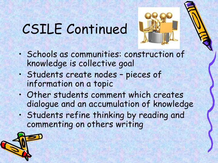 CSILE Continued