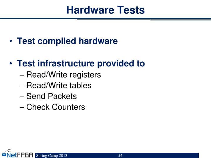 Hardware Tests