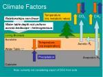 climate factors