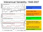 interannual variability 1948 2007