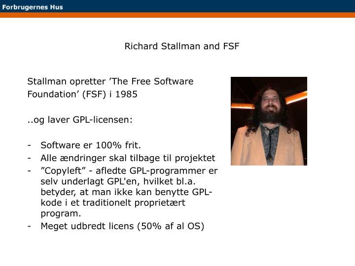 Richard Stallman and FSF