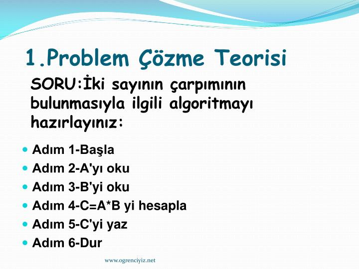 1.Problem Çözme Teorisi
