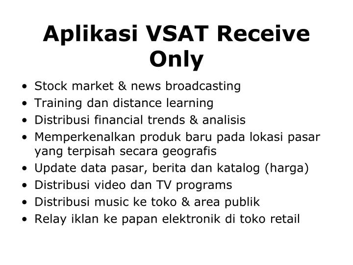 Aplikasi VSAT Receive Only