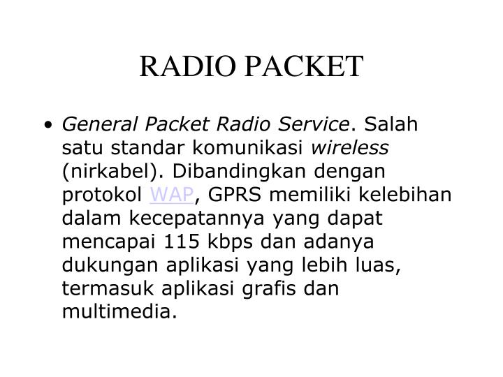 RADIO PACKET