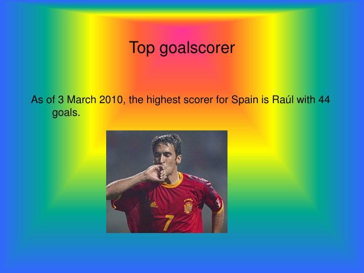 Top goalscorer