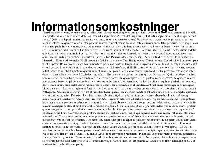 Informationsomkostninger
