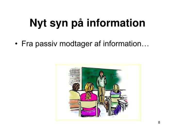 Nyt syn på information