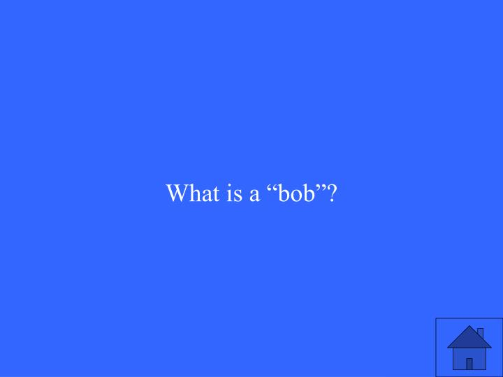 "What is a ""bob""?"