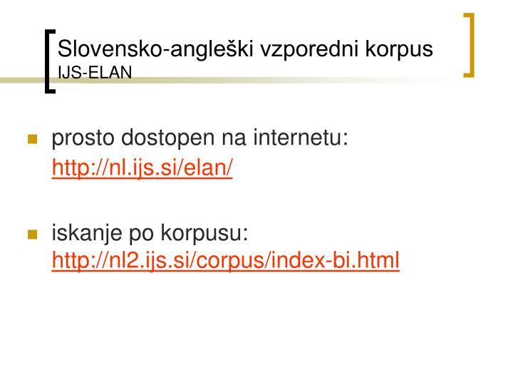 Slovensko-angleški vzporedni korpus