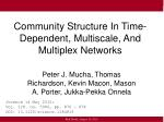 community structure in time dependent multiscale and multiplex networks