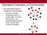 standard evaluation of communities1