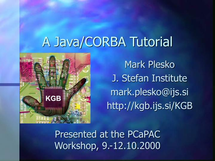 A java corba tutorial