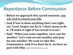 repentance before communion
