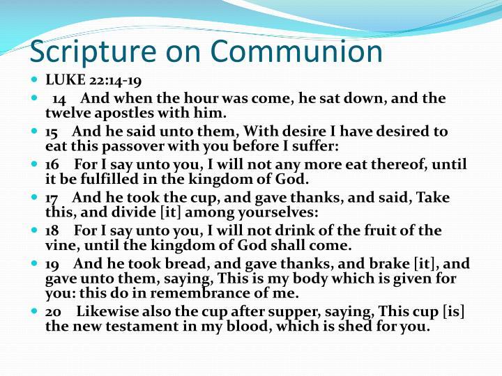 Scripture on Communion