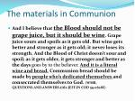 the materials in communion1
