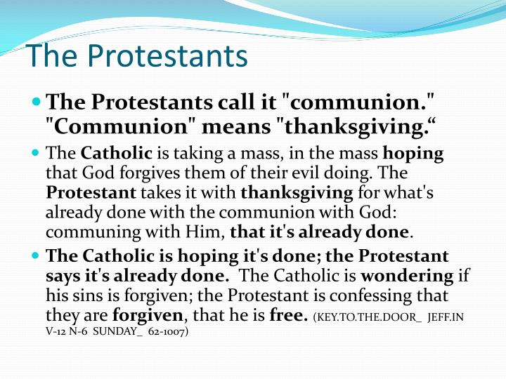 The Protestants