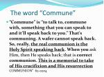 the word commune