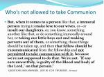 who s not allowed to take communion