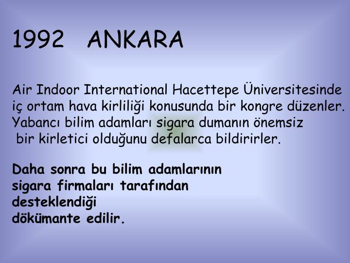 1992   ANKARA