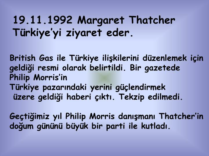 19.11.1992 Margaret Thatcher