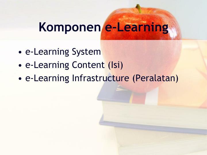 Komponen e‐Learning