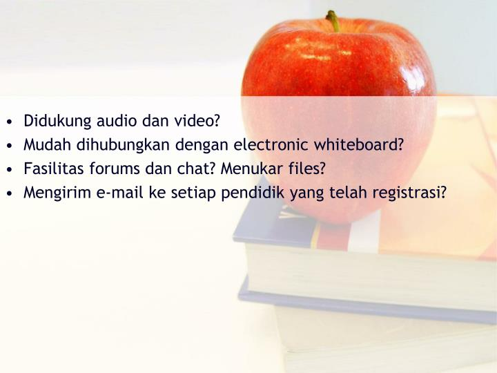 Didukung audio dan video?